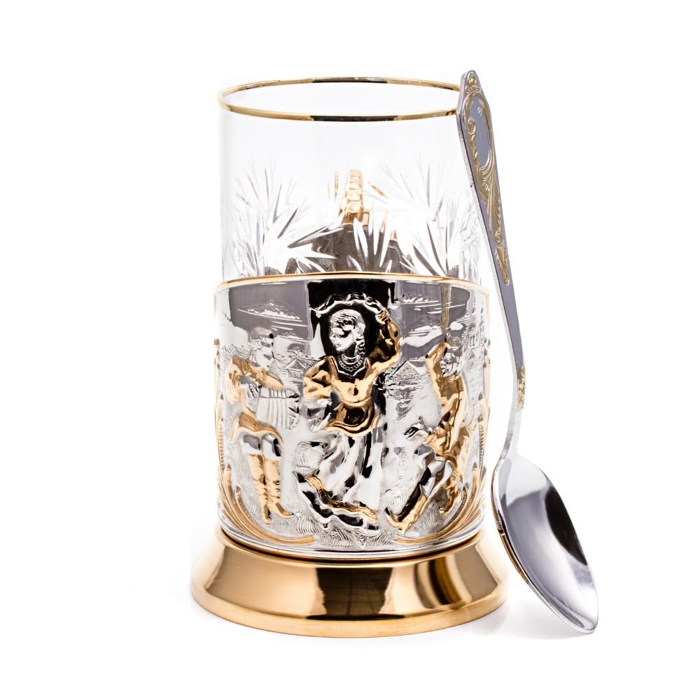 Подстаканник «Ярмарка»+ чайная ложечка