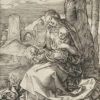 """Альбрехт Дюрер """"Дева Мария и младенец с грушей"""""""