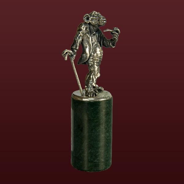 """Серебряная скульптура """"Франт"""""""