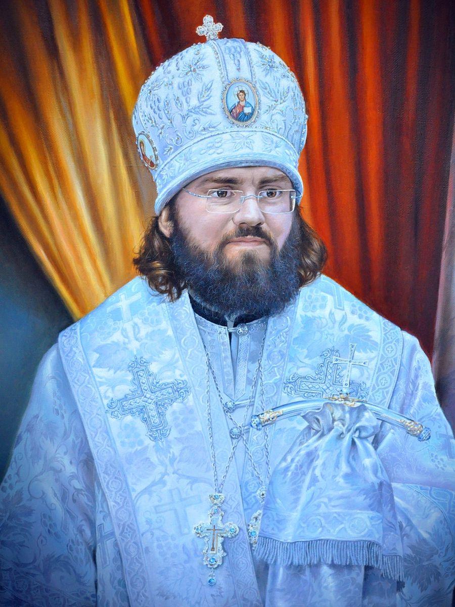 ВЛАДЫКА ФЕОФИЛАКТ портрет , масло.к.л