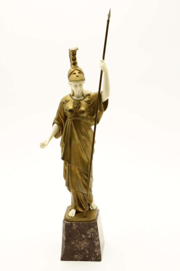 Афина Паллада, скульптура, бронза, 18в