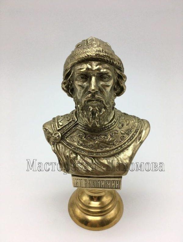бронзовый бюст Князь Владимир